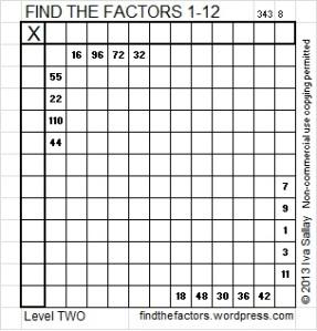Factors 1-2 Blog 10-30-13