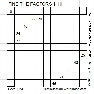 How to Solve a FIND THE FACTORS Puzzle | Find the Factors