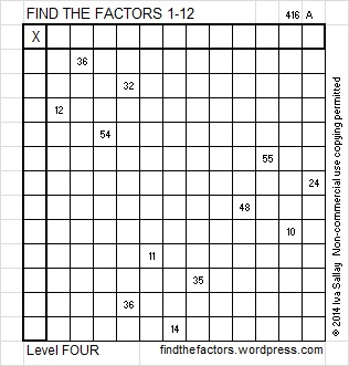 Level 4 Puzzle | Find the Factors | Page 15