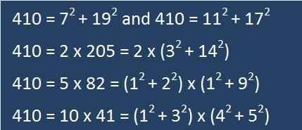 410 equals