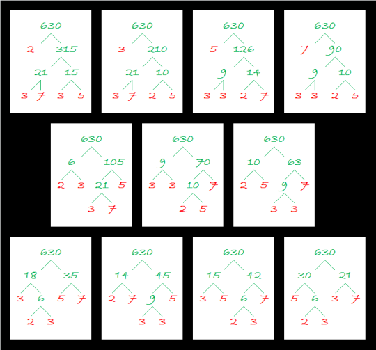 630 Factor Trees