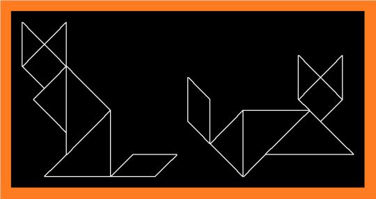 tangram cats