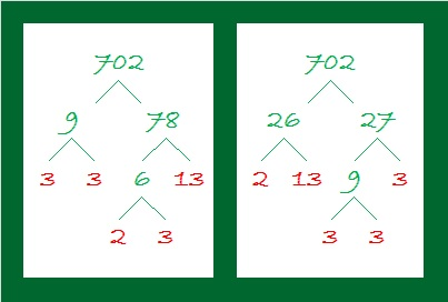 702 Factor Trees
