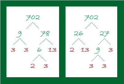 702 Factor Trees