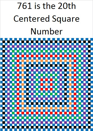 761 Centered Square Number